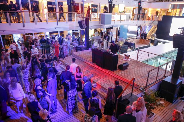 HAMBURG, GERMANY - AUGUST 23: A general view of the Fashion2Night event at EUROPA 2 on August 23, 2016 in Hamburg, Germany. (Photo by Isa Foltin/Getty Images for Hapag-Lloyd)