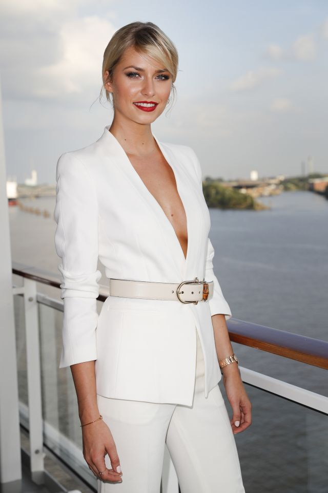HAMBURG, GERMANY - AUGUST 23: German model Lena Gercke attends the Fashion2Night event at EUROPA 2 on August 23, 2016 in Hamburg, Germany. (Photo by Franziska Krug/Getty Images for Hapag-Lloyd)