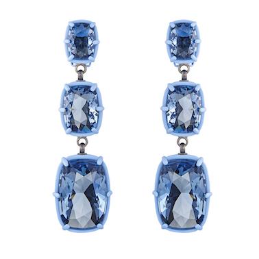 Atelier Swarovski by Rosie Assoulin - drop earrings blue