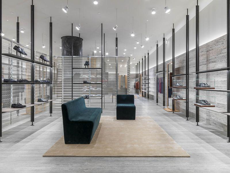 Brioni boutique by David Chipperfield Architects, rue Saint Honore, Paris, France. Photo : Kristen Pelou