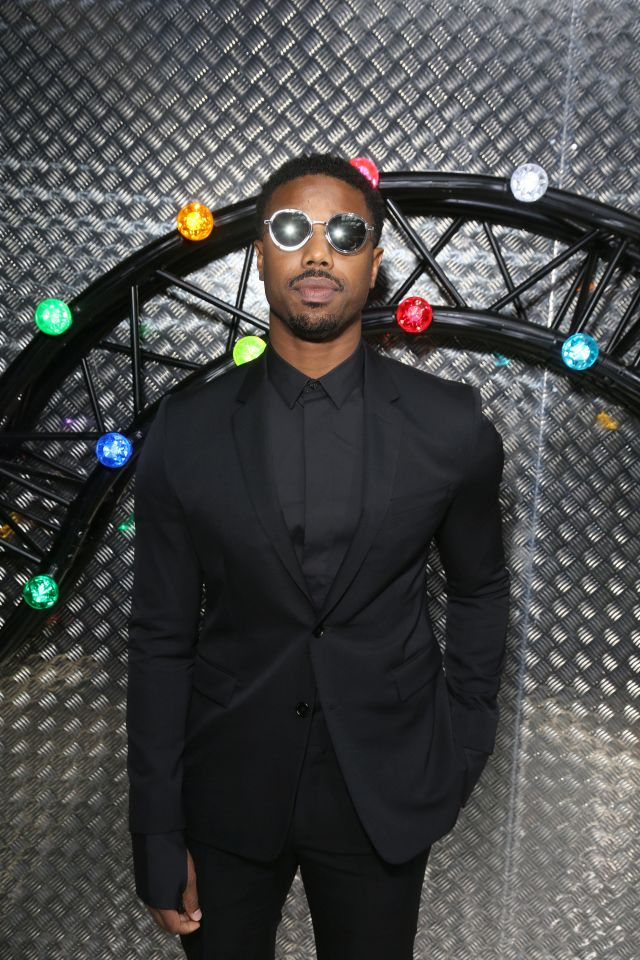 PARIS, FRANCE - JUNE 25: Michael B Jordan pose backstage at the Dior Homme Menswear Spring/Summer 2017 show as part of Paris Fashion Week on June 25, 2016 in Paris, France. (Photo by Victor Boyko/Getty Images) *** Local Caption *** Michael B Jordan